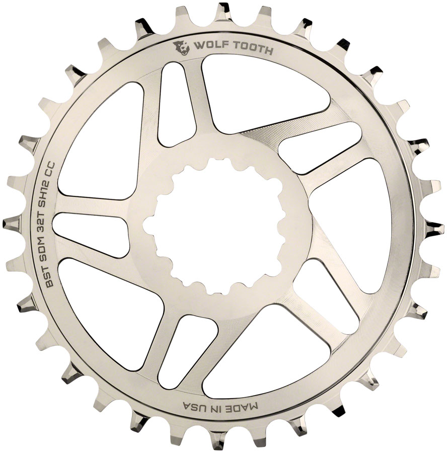 Wolf Tooth Powertrac Elliptical Direct Mount SRAM GXP Oval Boost Chainring 32t