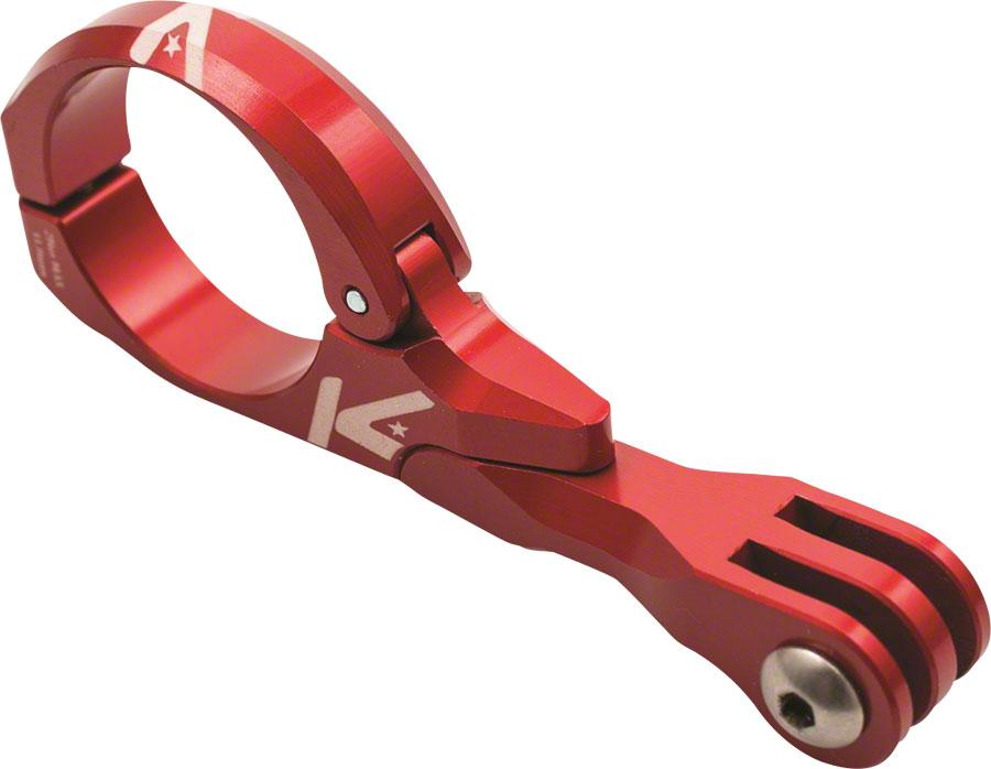 K-EDGE Go Big Pro Universal Action Camera and Light Handlebar Mount 31.8mm  Red