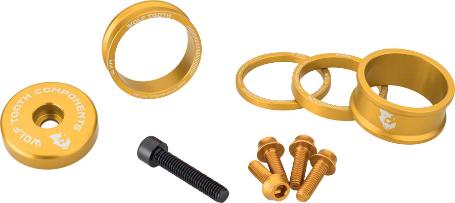 Wolf Tooth Components Headset Spacer Kit 3 15mm Black 5,10