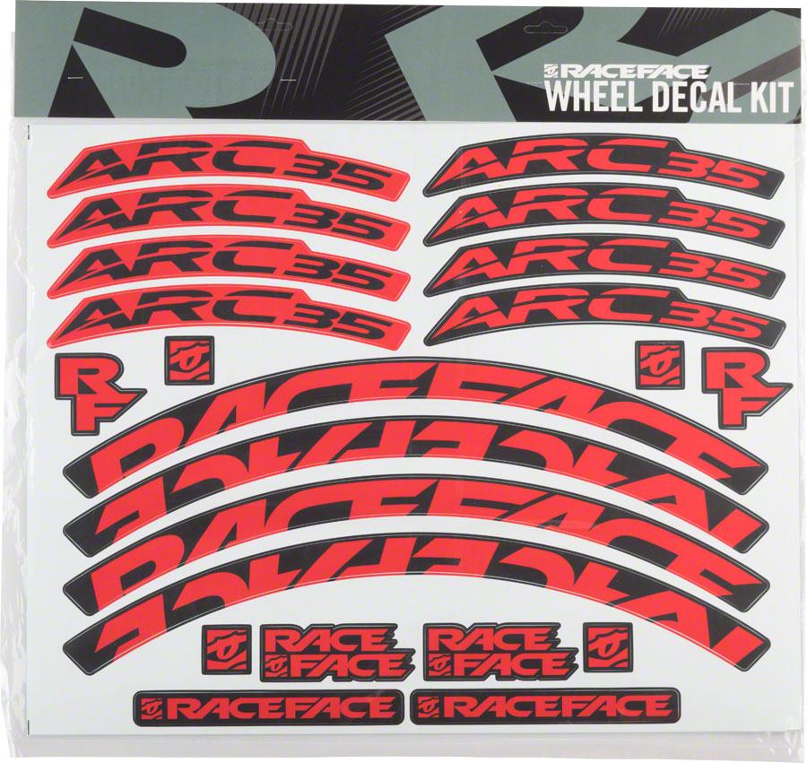 Blue RaceFace Decal Kit for Arc 35 Rims