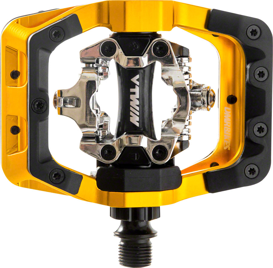 DMR VTwin Pedals  Dual Sided Clipless with Platform, Aluminum, 916, oro