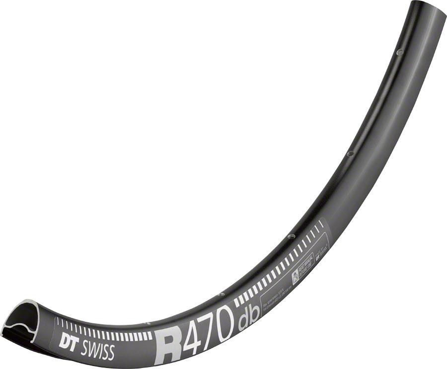 32h Black DT Swiss R 470 700c Tubeless-Ready Road Disc Rim