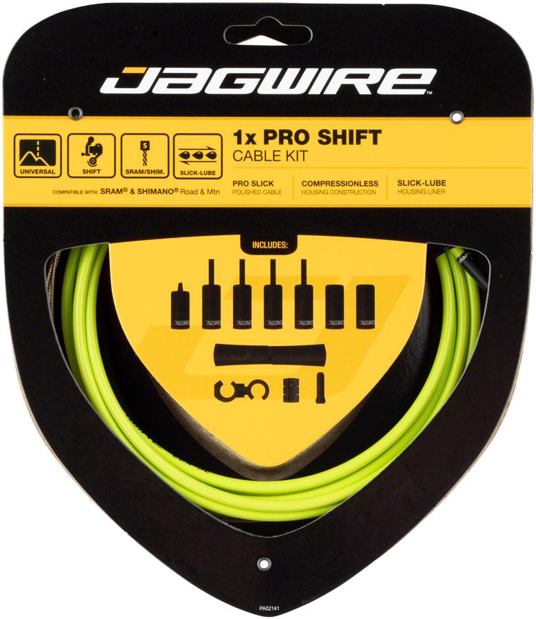Jagwire 1x Pro Shift Kit Road//Mountain SRAM//Shimano Organic Green