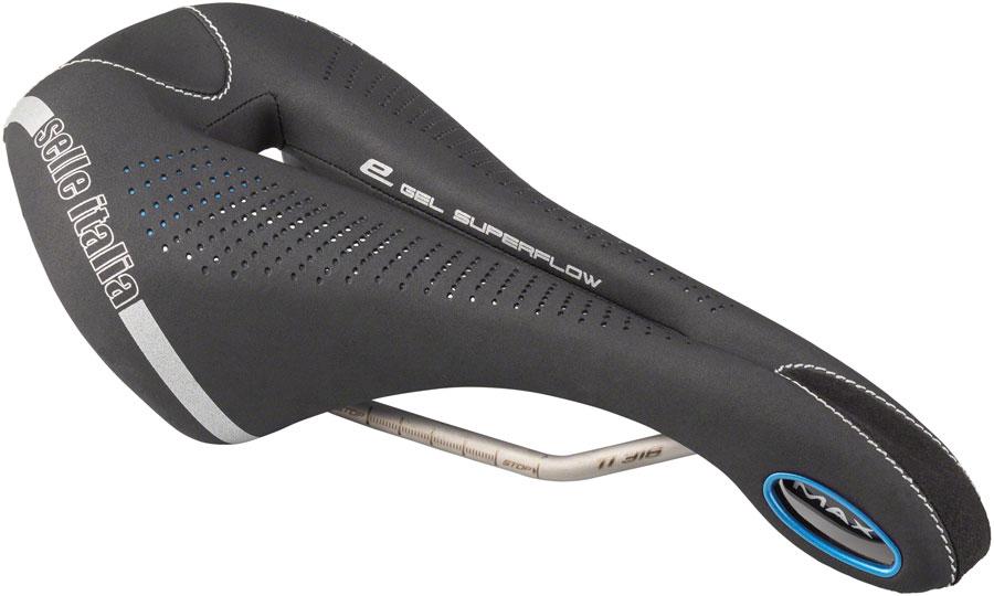 L3 Selle Italia Max Flite E-Bike Gel Superflow Saddle Titanium Black