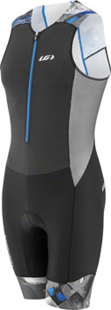 Garneau Pro Carbon Men's Suit: Black/Curacao Blue SM