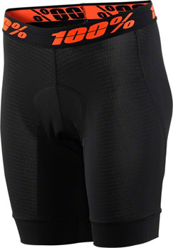 100% Crux Women's Liner Short with Chamois: Black LG