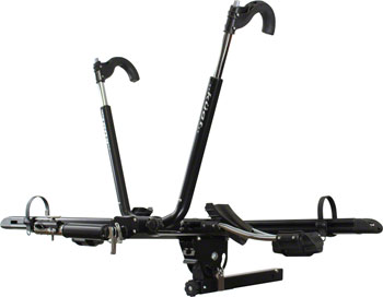 Kuat NV 2-Bike Tray Receiver Hitch Rack: Black/Chrome; 1.25-inch receiver