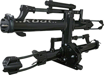 "Kuat NV 2.0 2-Bike Tray Hitch Rack: Metallic Black and Chrome, 1 1/4"" Receiver"