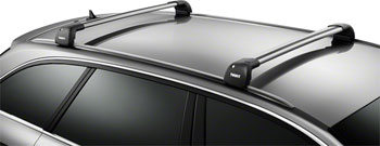 Thule 7601 Aeroblade Edge Flush Mount 1 Single Bar Silver