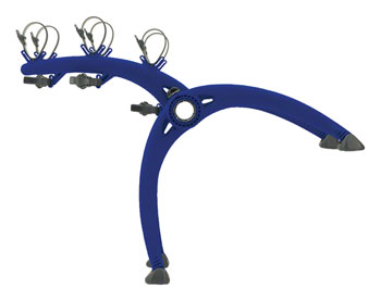 Saris Bones Trunk Rack: 3 Bike, Blue