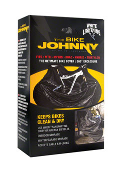 White Lightning Bike Johnny Bicycle Cover, Black