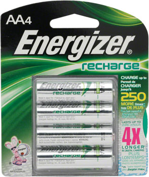 Energizer Rechargeable AA 2300mAh Battery: 4-Pack