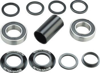 Fiction Savage Mid Bottom Bracket 22mm Black
