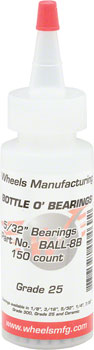 "Wheels Manufacturing Grade 25 5/32"" Loose Ball Bearing: Bottle of 150"