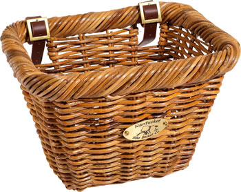 Nantucket Cisco Front Basket, Rectangular Shape Honey