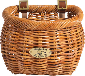 Nantucket Cisco Front Basket, Classic Shape Honey