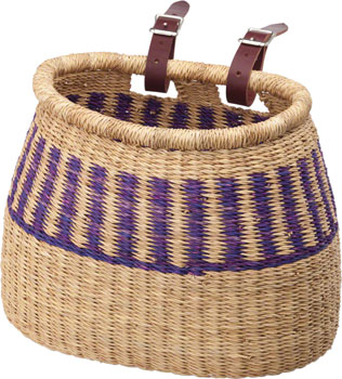 House of Talents Pot Shaped Front Basket: Assorted Colors