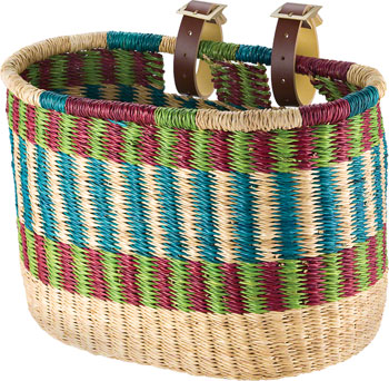 House of Talents Oblong Bike Front Basket: Assorted Colors