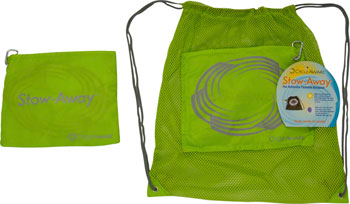 CycleAware Stow-Away Packable Backpack: Neon Green
