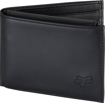 Fox Racing Leather Bifold Wallet: Black NS