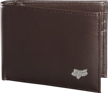 Fox Racing Leather Bifold Wallet: Brown NS