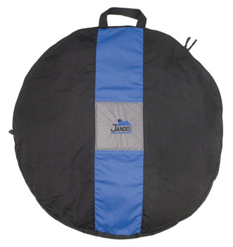 Jandd Wheel Bag: 1-Wheel Capacity Black/Blue
