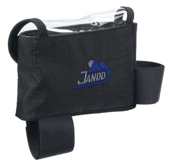 Jandd Top Tube/ Stem Bag: Clear-top with velcro closure Black Medium