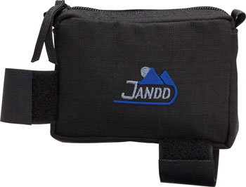 Jandd Top Tube/ Stem Bag: Zipper closure Black Medium