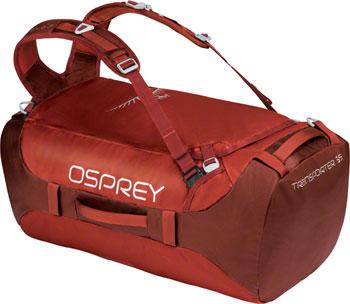 Osprey Transporter 65 Duffel Bag: Ruffian Red