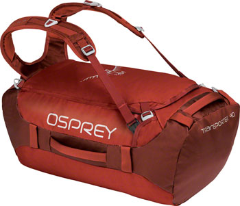 Osprey Transporter 40 Duffel Bag: Ruffian Red