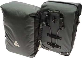 Axiom Typhoon Aero DLX 45 Waterproof Pannier Set: Gray/Black