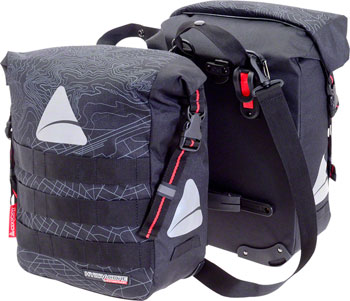 Axiom Monsson Hydracore 32+ Panniers: Gray