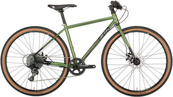 All-City Macho Man Disc Flatbar 650b Complete Bike 46cm, Olive Fab