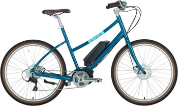 "Civia Parkway Step-Thru Complete ebike: 26"" Dark Teal Medium"