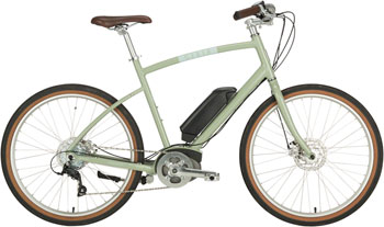 "Civia Parkway Step-Over Complete ebike: 26"" Clay Gray Large"
