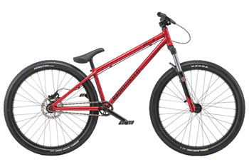 "Radio Griffin 26"" 2019 Complete Dirt Jump Bike 22.6"" Top Tube Metallic Red"