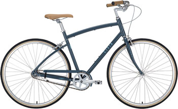 Civia Lowry Step Over Single-Speed Bike: Gray/Light Blue LG