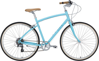 Civia Lowry Step Over 7-speed Bike: Light Blue/Gray XL