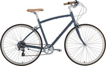 Civia Lowry Step Over 7-speed Bike: Gray/Red LG