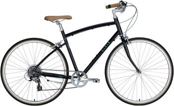 Civia Lowry Step Over 7-Speed Bike: Black Jelly Bean/Mint Green LG