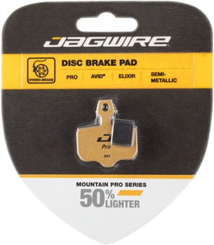 Jagwire Mountain Pro Alloy Backed Semi-Metallic Disc Pads for Avid Elixir R, CR Mag, 1, 3, 5, 7, 9, X.O, XX, World Cup