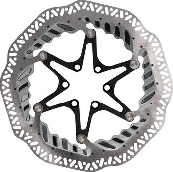Jagwire Elite CR1 Vented Disc Brake Rotor - 160mm, 6-Bolt, Silver/Black