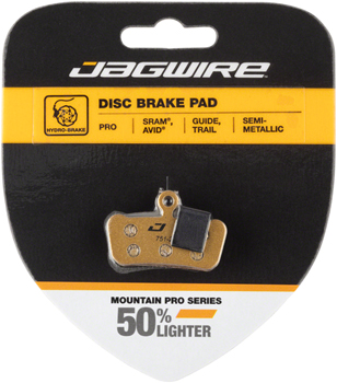 Jagwire Mountain Pro Alloy Backed Semi-Metallic Disc Brake Pads for SRAM Guide RSC, RS, R, Avid Trail