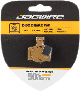Jagwire Mountain Pro Alloy Backed Semi-Metallic Disc Brake Pad Magura MT8, MT6, MT4, MT2