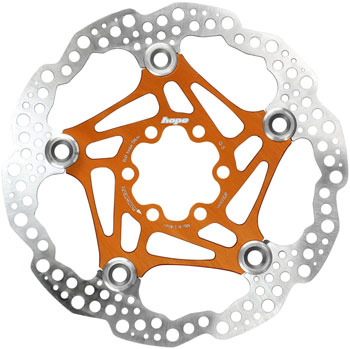 Hope Floating Disc Brake Rotor - 160mm, 6-Bolt, Orange