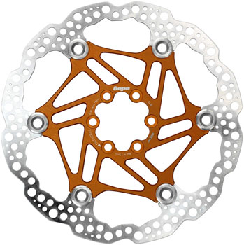 Hope Floating Disc Brake Rotor - 180mm, 6-Bolt, Orange