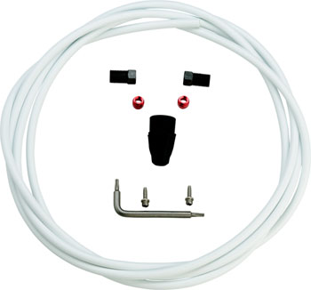Avid/SRAM White Hydraulic 2 Meter Hose Kit, Fits Code, Elixir3, Juicy3, LevelT, Level, Guide RE