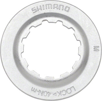 Shimano RT67 Centerlock Disc Rotor Lockring Silver/Steel, for use with 9/10mm Axle Hubs