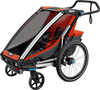 Thule Chariot Cross 1 Trailer and Stroller: Roarange, 1 Child