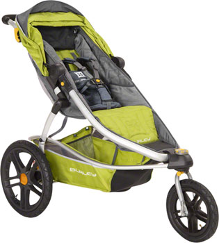 Burley Solstice Stroller: Green and Gray
